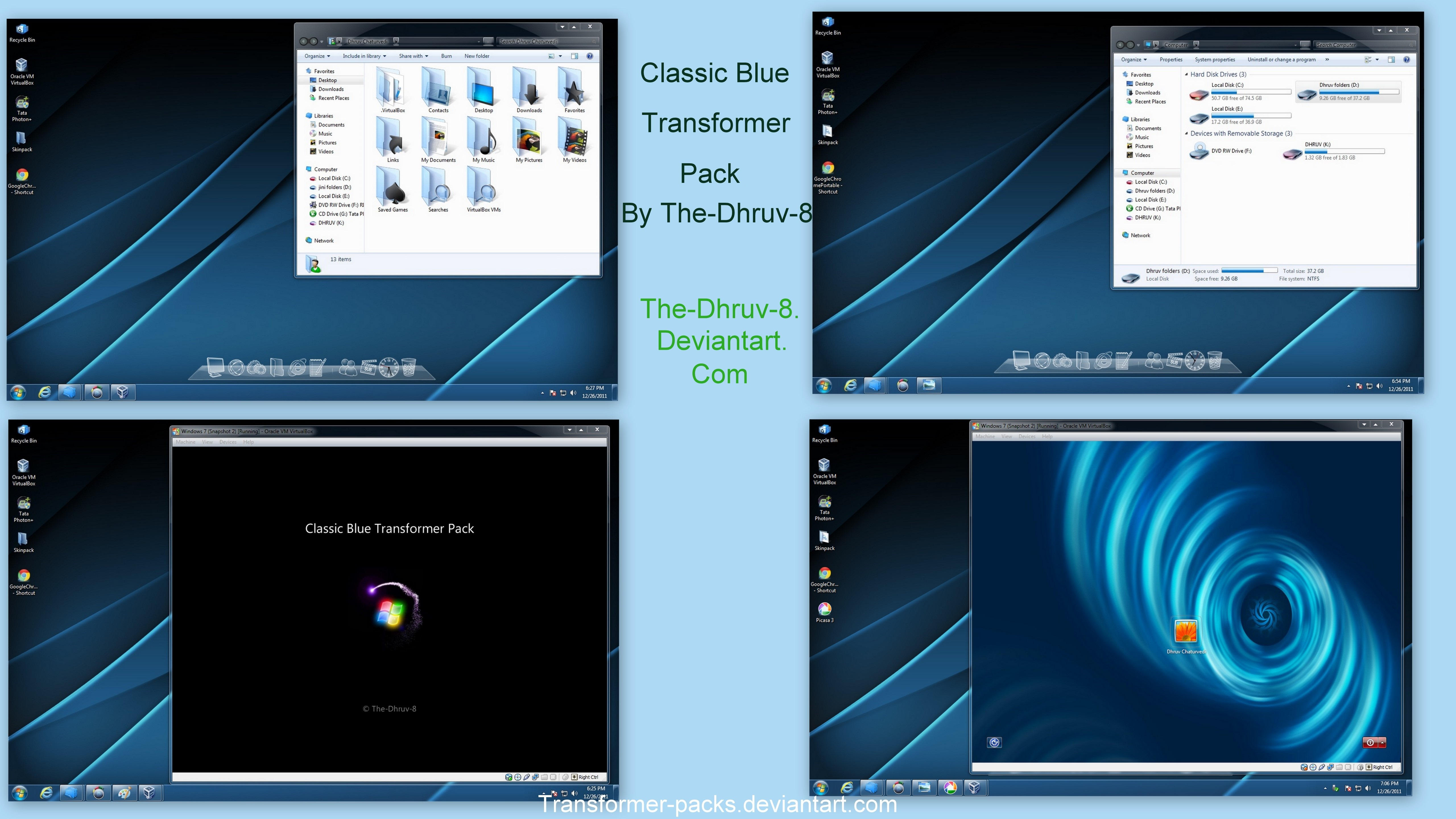 Classic blue Skin pack V2.0 X64 by TheDhruv