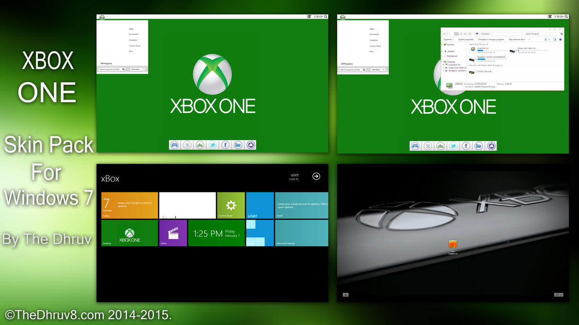 Xbox ONE SkinPack for Win7 released