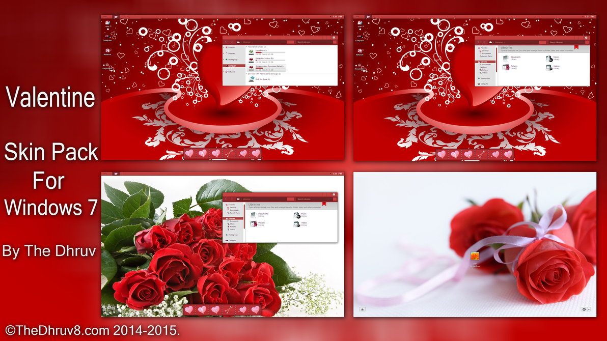 My Valentine Skinpack for Win7 by thedhruv