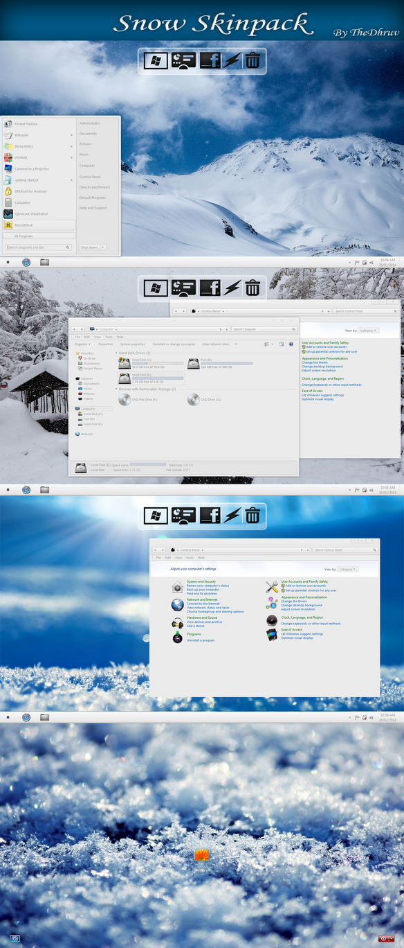 Snow SkinPack for Win7
