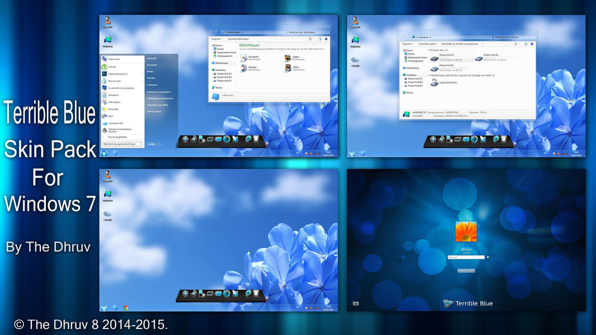 Terrible Blue Skinpack for Win7