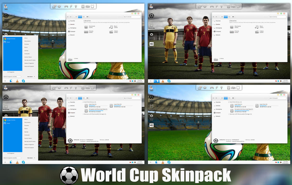 Fifa World Cup 2014 Skinpack For Windows 7/8/8.1