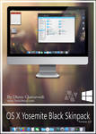Mac OS X Yosemite Black Skinpack For Win 7/8/8.1