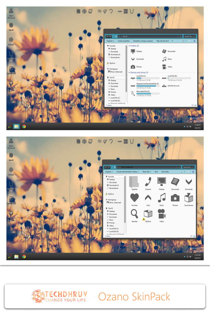 Ozano Skinpack For Win7/8/8.1 by TheDhruv