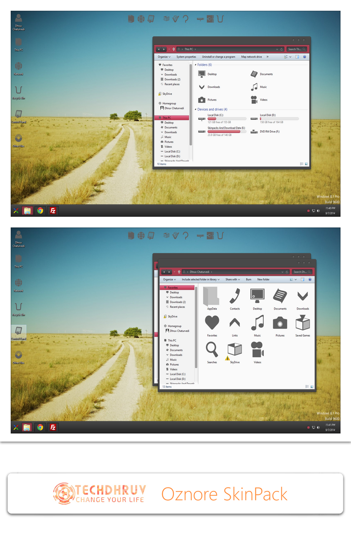 CLASSIFIED theme for Win8/8.1