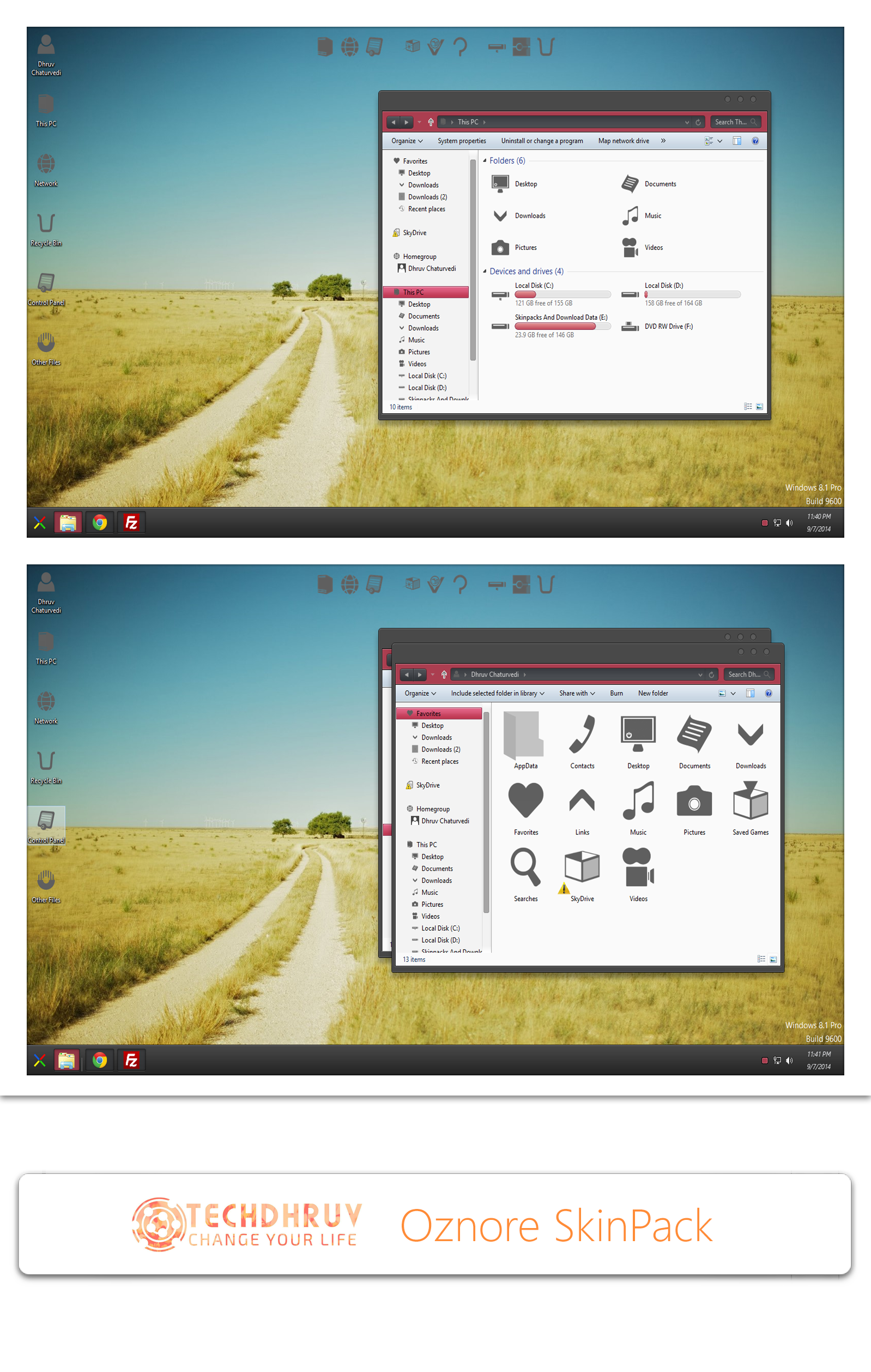 Oznore Skinpack For Win7/8/8.1 by TheDhruv