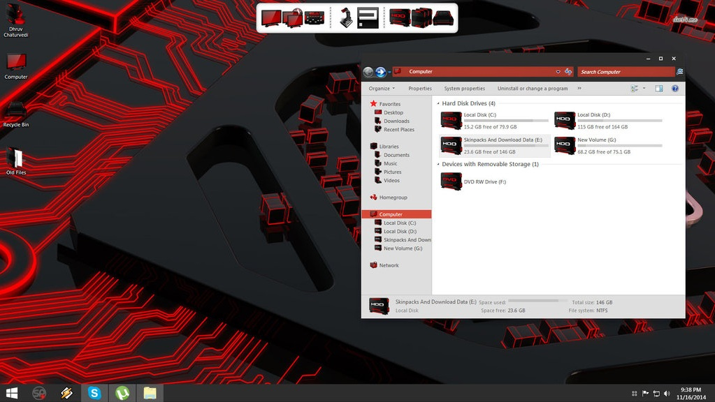 Amd ATI SkinPack For Win 7/8.1 download working by TheDhruv