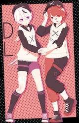 Cham Stylish Duo Fukase and V4Flower + DL by Darkivralii666
