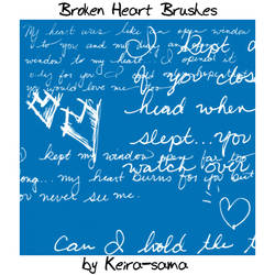 Broken Heart Brushes by Keira-Sama