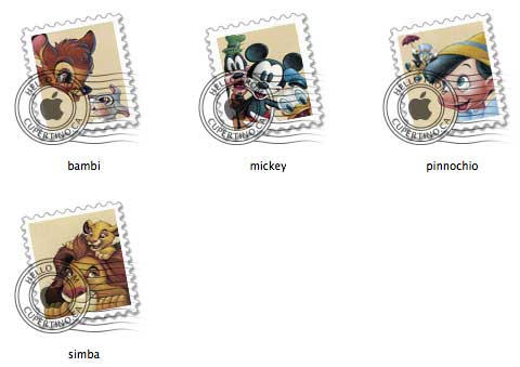Disney USPS Mail Stamps by mdc