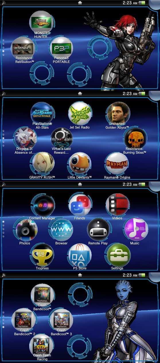 Mass Effect PS Vita Wallpaper Pack by JamesBryce