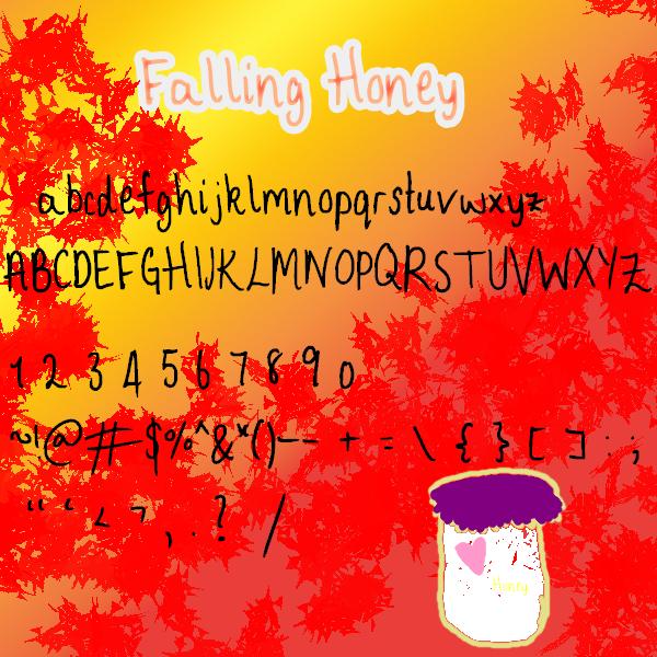 Falling Honey Font Falling_Honey_by_Pippy_Stock