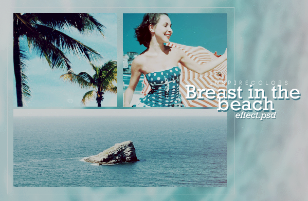 Breast in the beach |PSD effect by Inspirecolors