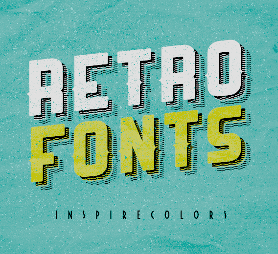 Retro Fonts By Inspirecolors On DeviantArt