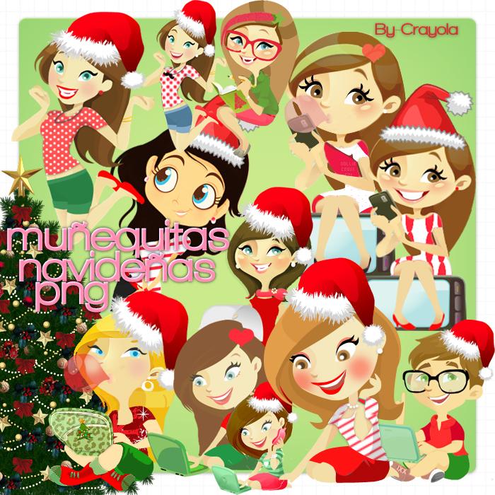 Nenitas Navidad png by iCrayolaa