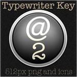 Typewriter Key icons