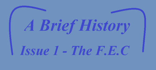 A Brief History - Issue 1: The F.E.C