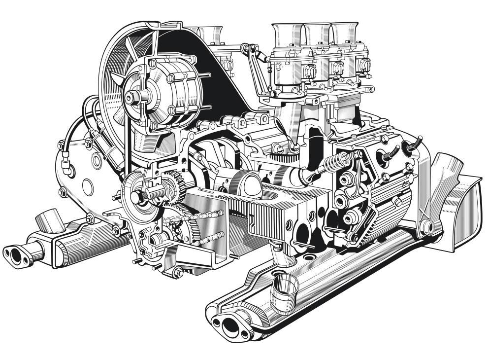porsche vector engine by gocilla on deviantart