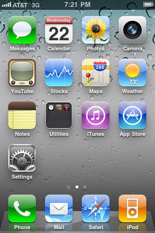 iPhone 3Gs iOS 4 App Icons by xXmatt69Xx1