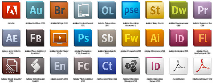 STOCK Adobe CS5 Icon Set