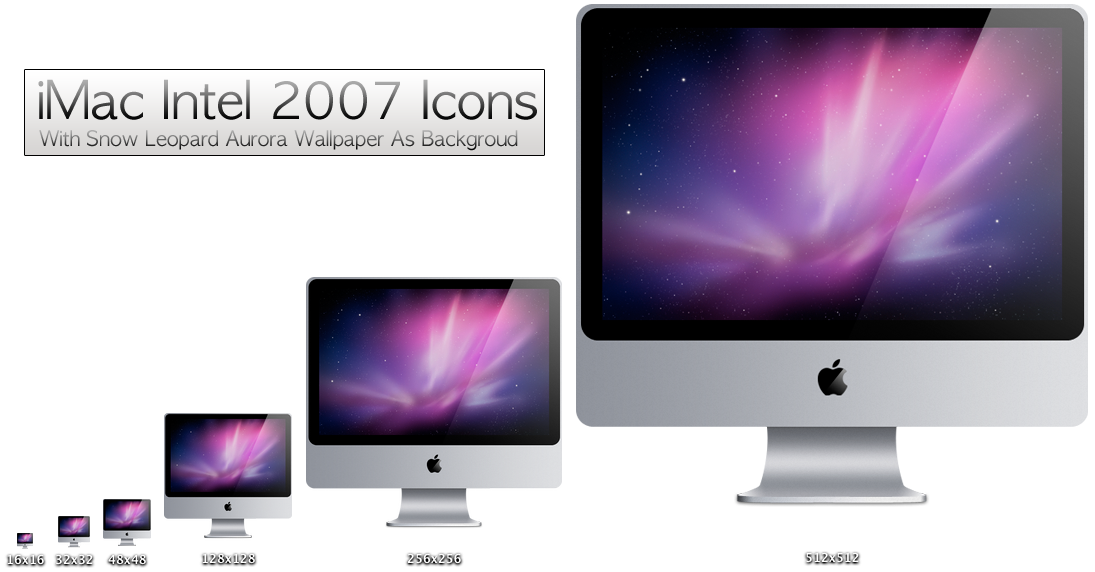 iMac Aluminum Icons REVISED by xXmatt69Xx1
