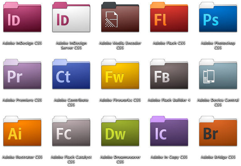 STOCK Adobe CS5 Folder Icons by xXmatt69Xx1