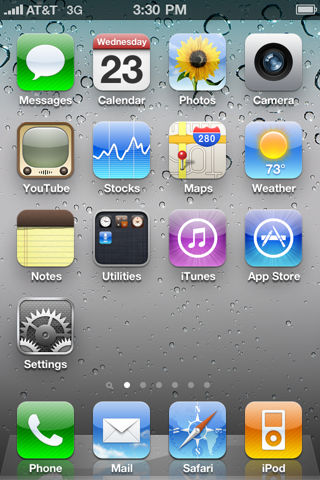 iPhone 4 iOS 4 App Icons by xXmatt69Xx1