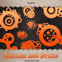 Circles and Stars shape by anacarolgomes