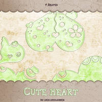 Cute heart shape by anacarolgomes