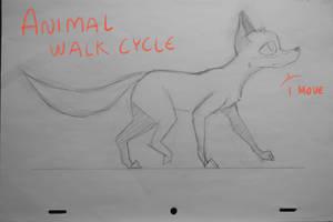 Animal walk cycle [Penciltest] by KayDaKay