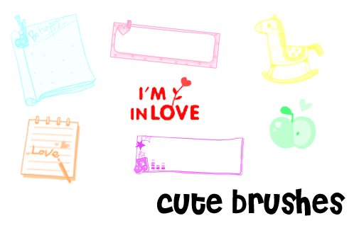 cute brushes2 by xsweetsugarx