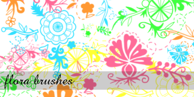 flora brushes by xsweetsugarx