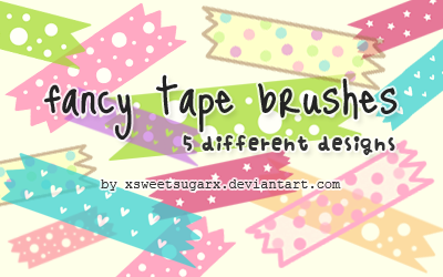 Fancy tape brushes by xsweetsugarx