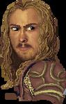 pixel art: Karl Urban as Eomer (MS Paint)