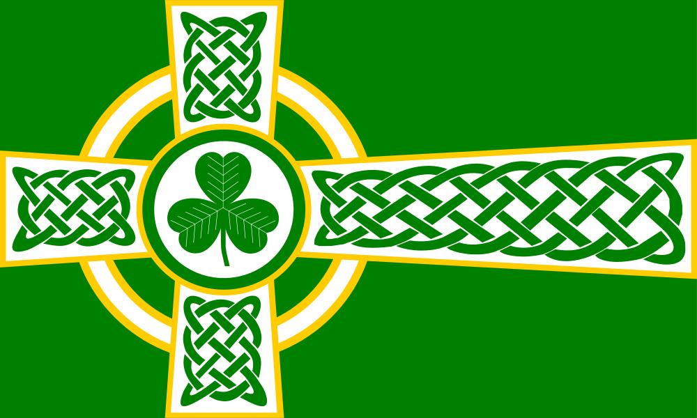 Green Celtic Cross Wallpaper Irish Flag By