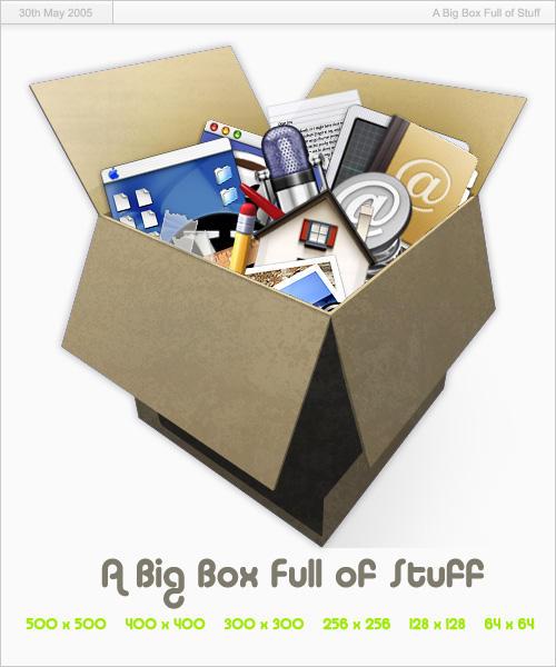 Big Box Full of Stuff by Carvetia