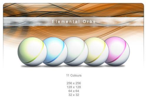 Elemental Orb Icons by Carvetia