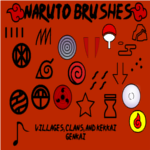 Naruto Brushes by InuyashaRules6596