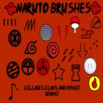 Naruto Brushes by InuyashaRules6596