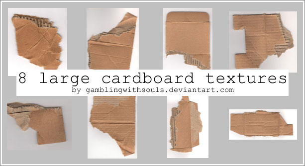 Cardboard Textures - Scanned by gamblingwithsouls