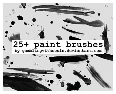 25+ Paint Brushes by gamblingwithsouls