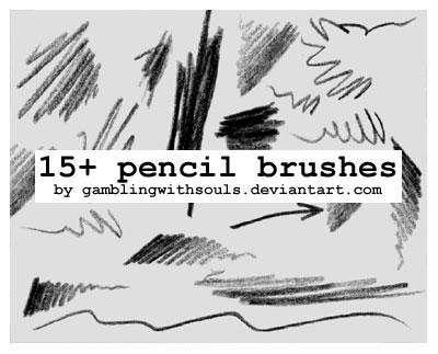 15+ Pencil Brushes by gamblingwithsouls
