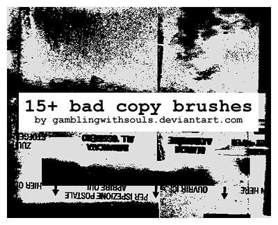 15+ Bad Photocopy Brushes by gamblingwithsouls