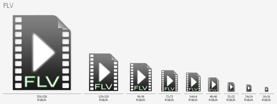FLV   Videos Icon by karto2006
