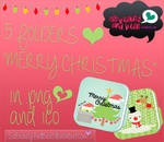 5 Folders Merry Christmas