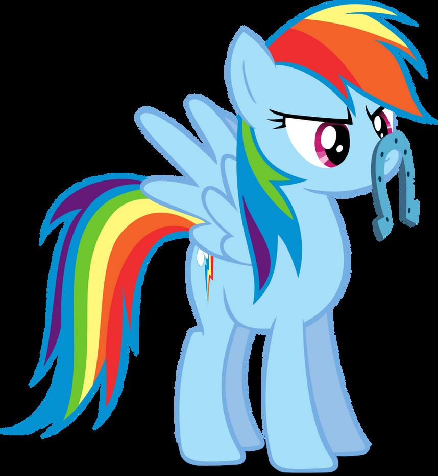 Rainbow Dash's mustache... by Kopachris