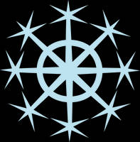 OC cutie mark - Snowflake by Kopachris