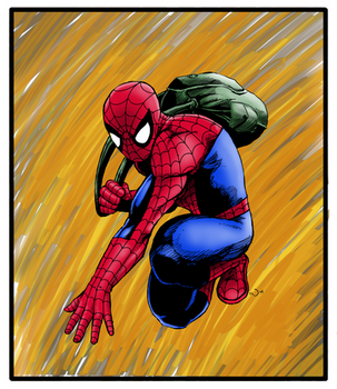 Student Spidey coloured by judsonwilkerson