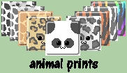 Free Icon Batch -- Animal Prints by Sibigtroth