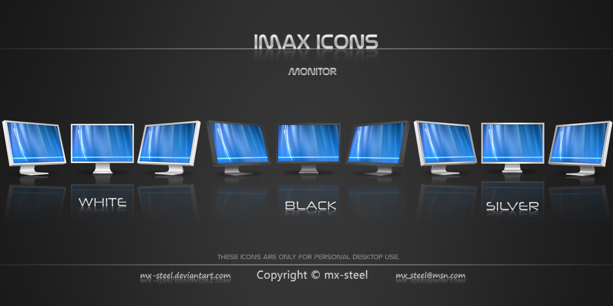 Imax Monitor Icons by mx-steel
